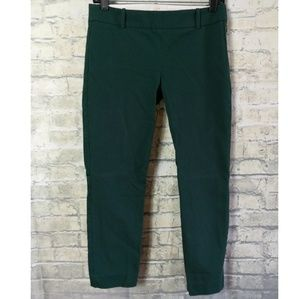 J crew stretch green ankle cropped pants